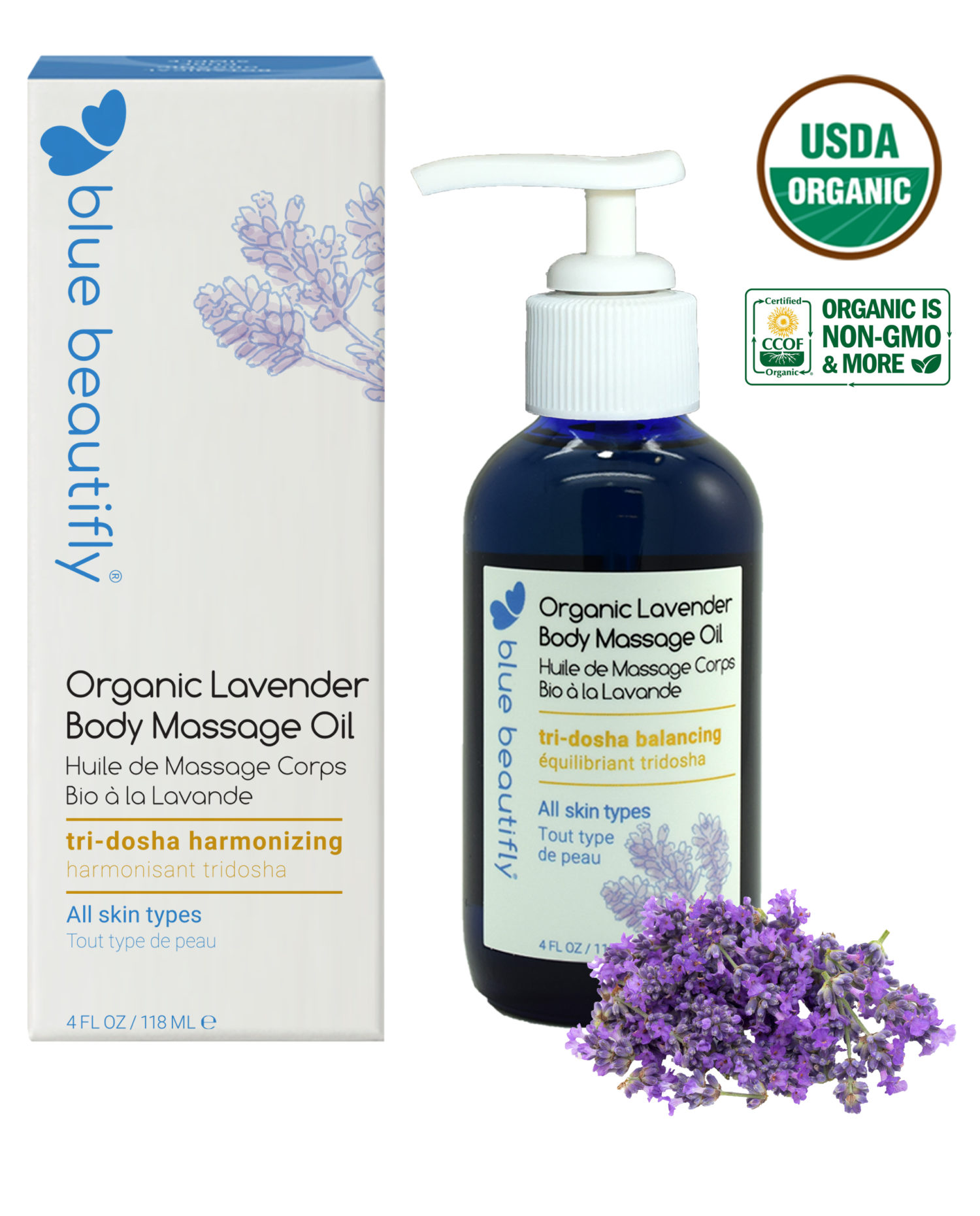 Organic Lavender Body Massage Oil
